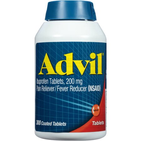 Advil Pain Reliever   Fever Reducer Coated Tablet  200Mg Ibuprofen  Temporary Pain Relief  300 Ct
