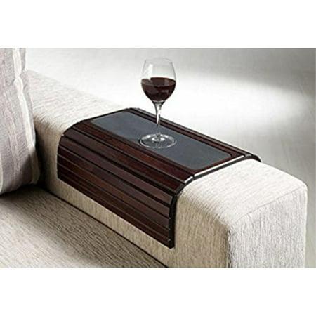 Sofa Arm Table â Premium Handmade Wood Chair Or Couch Armrest Tray Cover