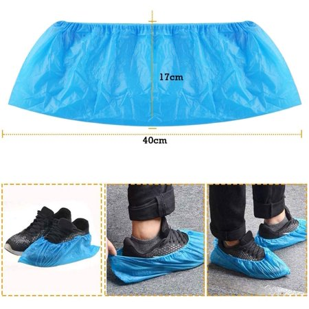 100pcs Disposable Shoe Covers -50 Pairs CPE Disposable Shoe & Boot Covers Waterproof Slip Resistant Shoe Booties - image 7 of 9