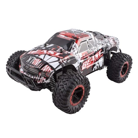 - Beast Slayer Truck Removable Body Remote Control Turbo RC Buggy Car Large 1:16 Scale Size RTR With Working Suspension, High Speed, Radio Control Off-Road Hobby Truggy Rechargeable (Red)