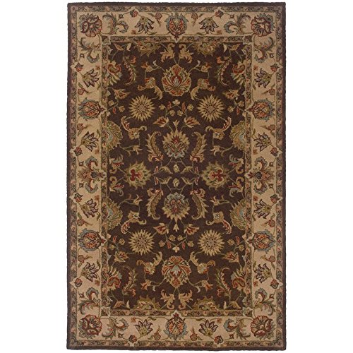 Sphinx Windsor Area Rugs - 23110 Traditional Oriental Brown Persian Vines Leaves Border Rug