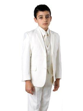 Tazio Boys 5 Piece Tuxedo Suit Off/White