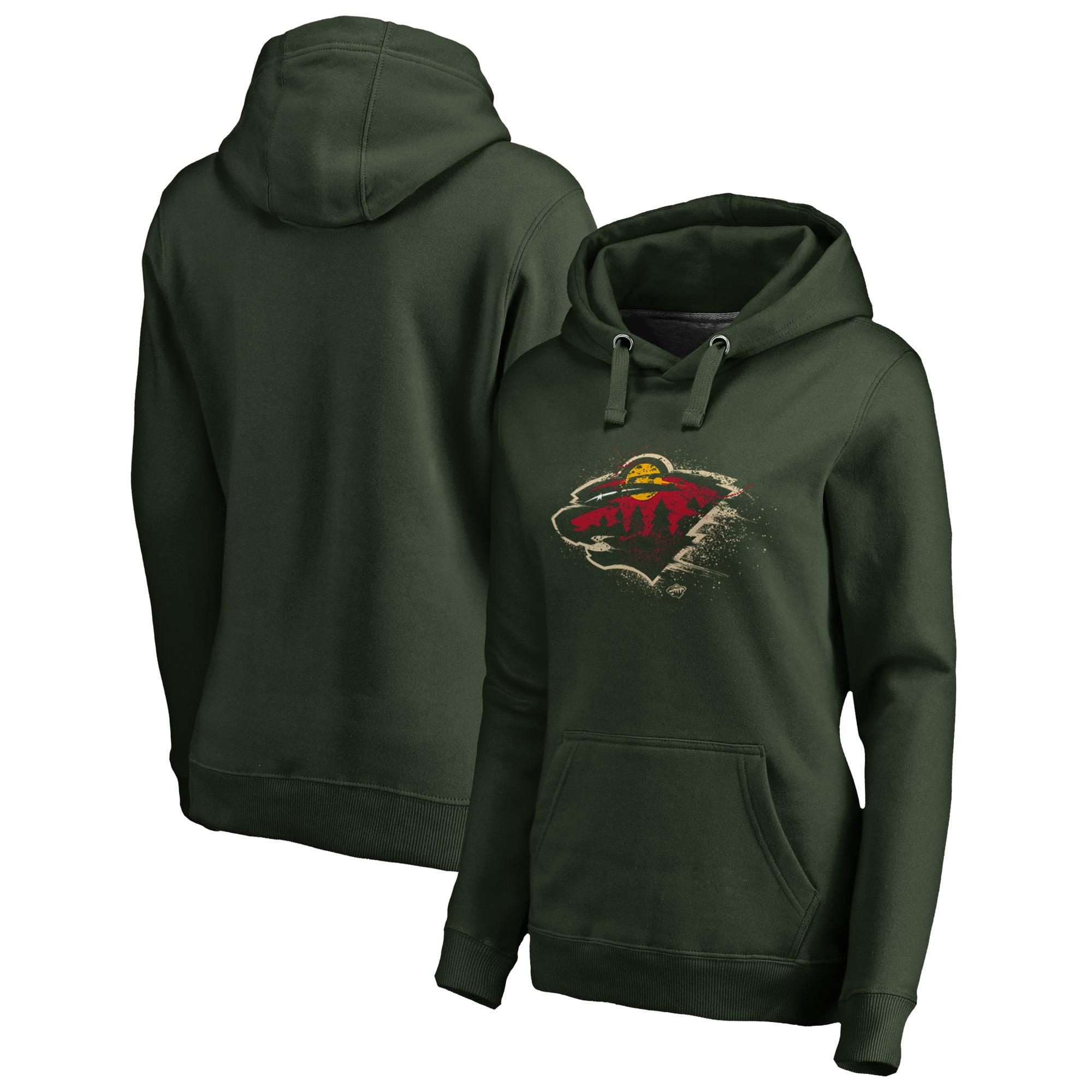 Minnesota Wild Fanatics Branded Women's Splatter Logo Plus Size Pullover Hoodie - Green