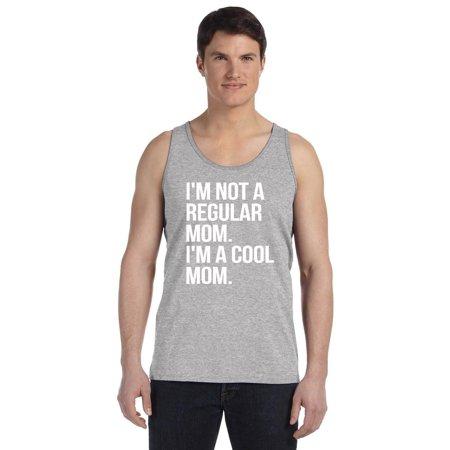 P&B Im Not A Regular Mom Im A Cool Mom Men's Tank Top, Heather Gray, L (Regulars Heather)