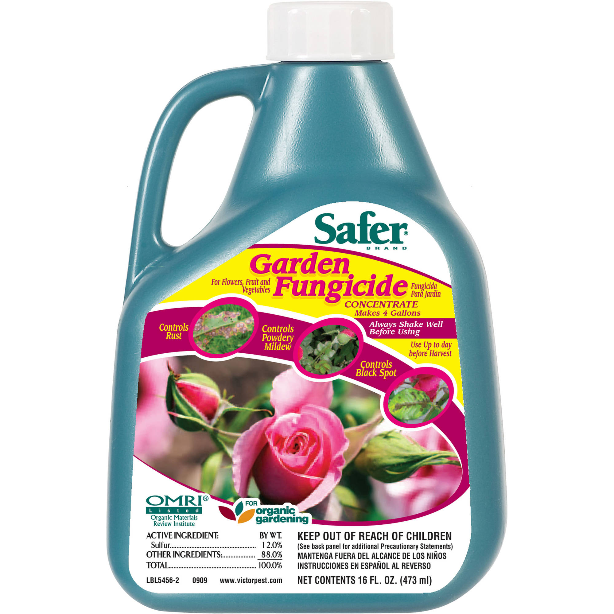 Safer Brand 16 oz Garden Fungicide Concentrate