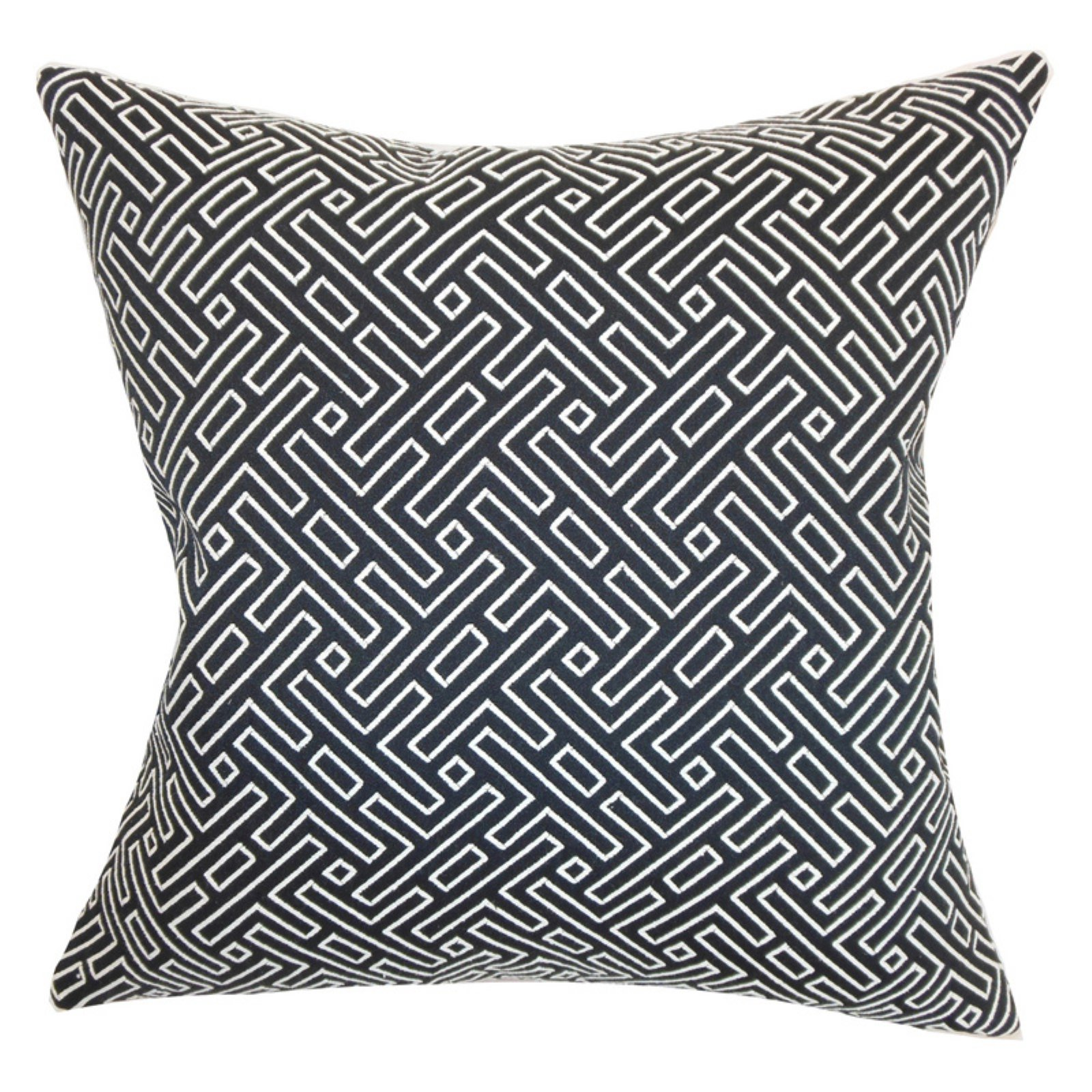 The Pillow Collection Ocussi Geometric Pillow - Navy