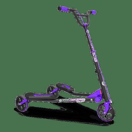 Y Fliker Scooter >> Yvolution Y Fliker C5 Carver Self Propelling Kids Scooter Walmart Com