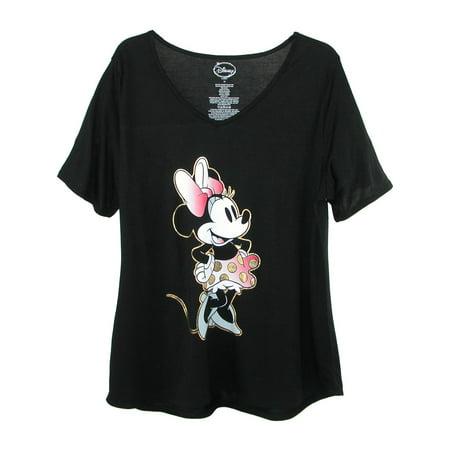 Plus Size Disney (Women's Plus Size Minnie Mouse V Neck T Shirt, )