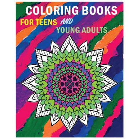 Coloring Books for Teens and Young Adults : Happy Mandala Coloring Page (+100