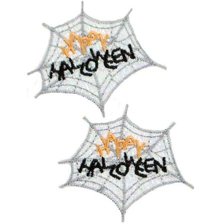 Expo Int'l Happy Halloween Web Iron-on Applique Pack of 2
