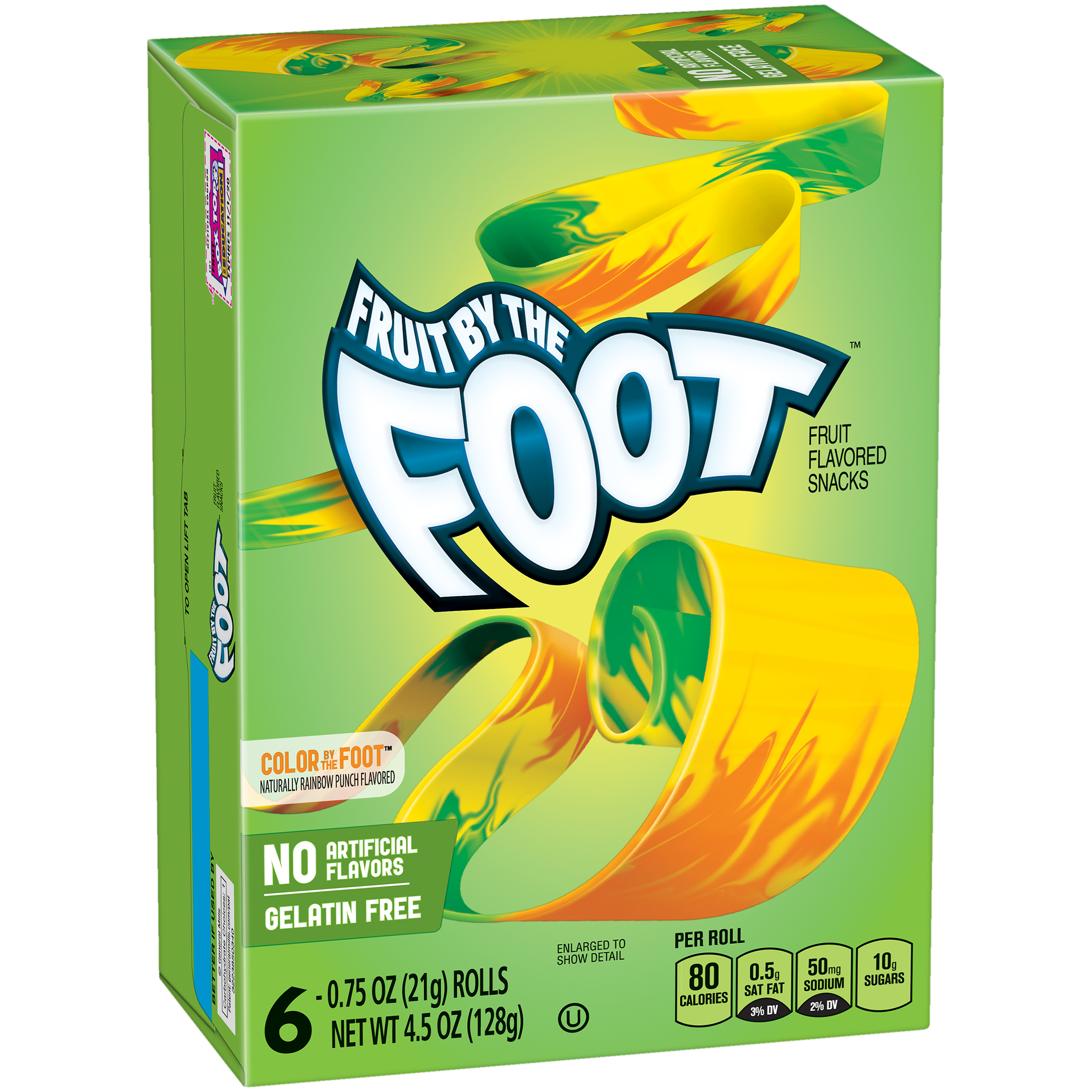 Fruit by the Foot™ Color by the Foot™ Fruit Flavored Snacks 6 ct Box ...