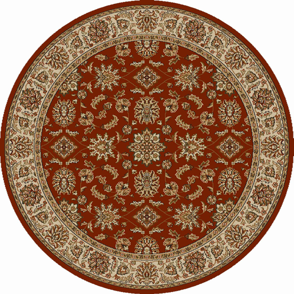 Radici Usa Como Area Rugs - 1592 Traditional Oriental Brick Italian Bordered European Floral Rug