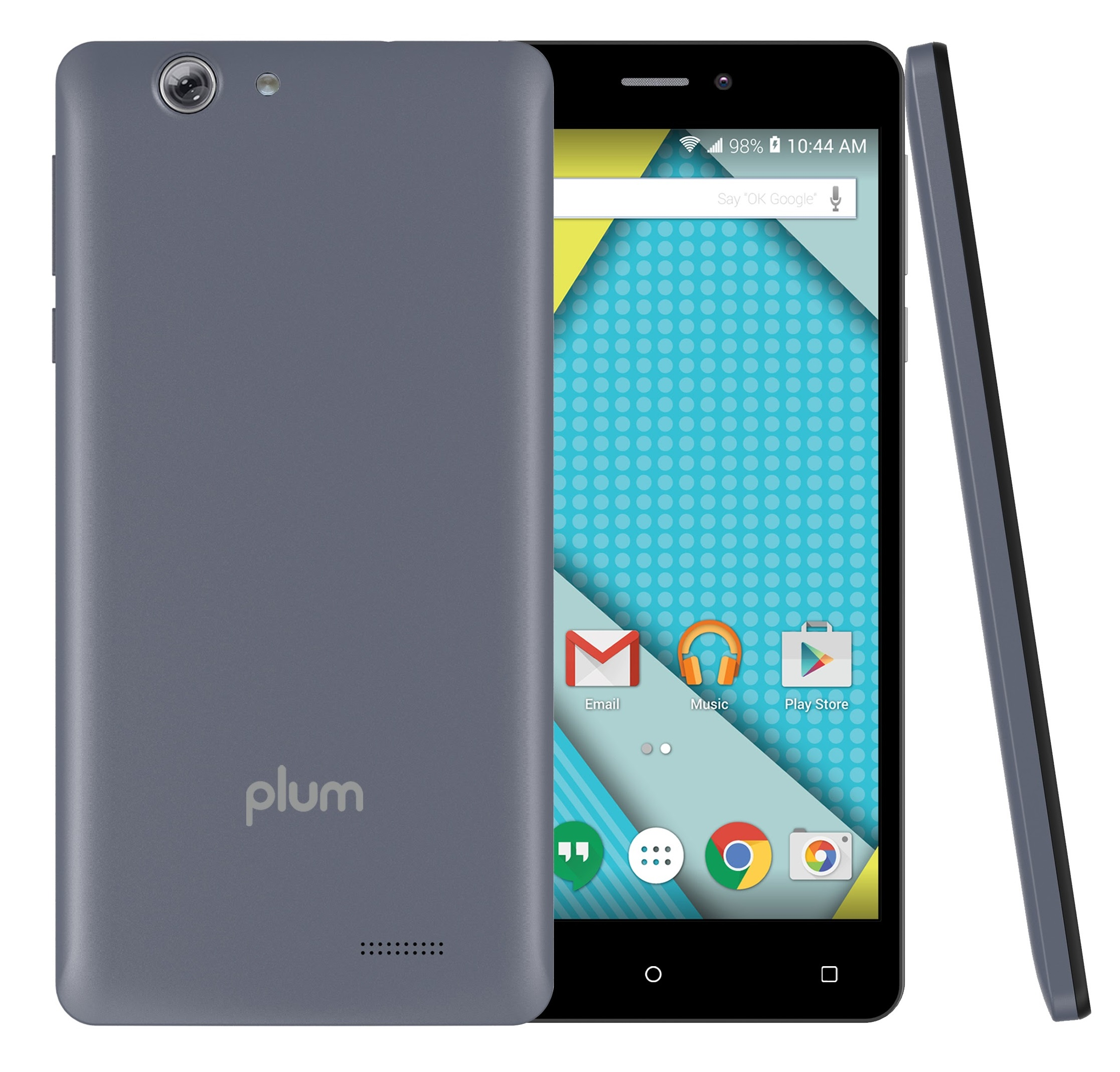 Plum Phantom - Unlocked Smart Cell Phone 4G GSM Android 16 GB Memory 13+8 MP Camera ATT Tmobile Metropcs Z623Gray