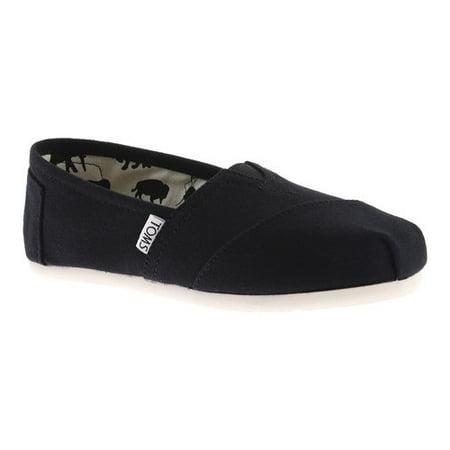 TOMS Classic Alpargata Canvas Slip-On Flat Shoe (Women's) Ash Slip On