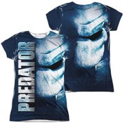Predator - Mask (Front/Back Print) - Juniors Cap Sleeve Shirt - XX-Large