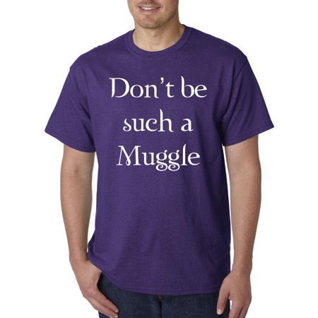 Trendy USA 839 - Unisex T-Shirt Don't Be Such A Muggle Harry Potter 3XL Purple