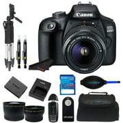 Canon EOS 4000D DSLR Camera EF-S 18-55 mm f/3.5-5.6 III Lens + Pixi Starter Bundle Kit