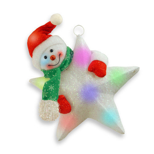 National Tree Co. Pre-Lit Star with Snowman Christmas Decoration