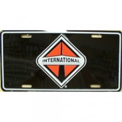 International On Black Metal License Plate - image 1 de 2