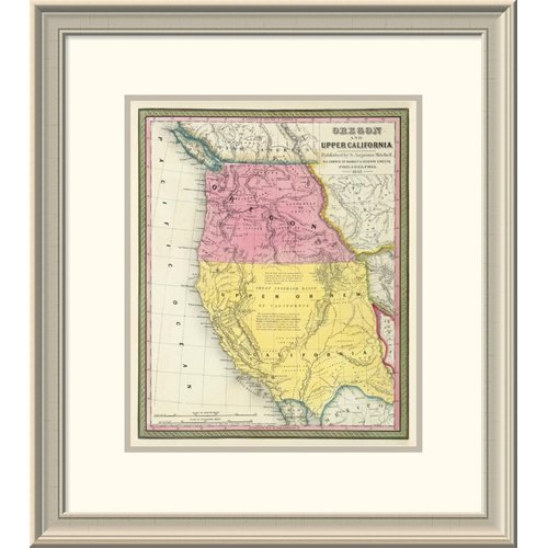 Global Gallery 'Oregon & Upper California, 1847' Framed Print