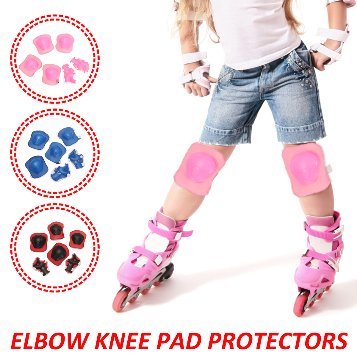 Hot Sales 6pcs/set Kids Scooter Cycling Roller Skating Bicycle Protective Patins Set Knee Pads Guard Elbow Wrist Protector Extreme Sport Protection