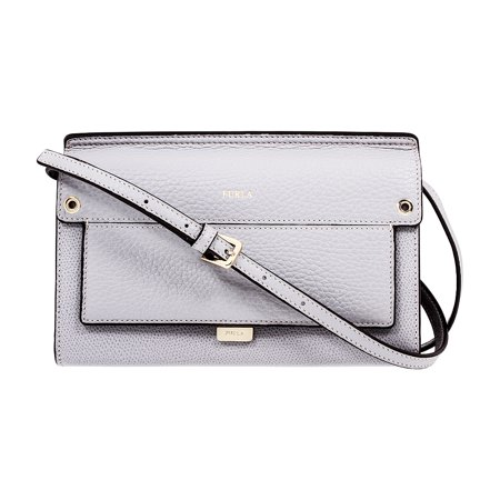Furla Like Ladies Mini Gray Onice Leather Crossbody -