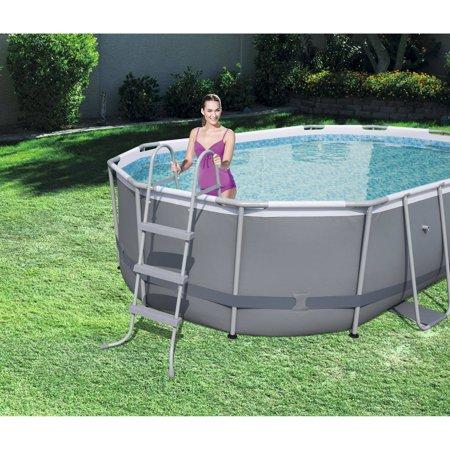 Bestway Power Steel 16 X 10 X 42 Oval Frame Swimming Pool Set