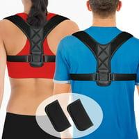 Liiva Posture Corrector Belt For Women For Men With Underarm Pads, Adjustable Clavicle Shoulder Back Brace, Upper Back Support Device Kyphosis Trainer