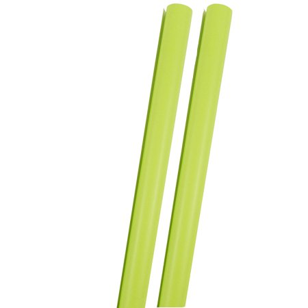 JAM Paper® Solid Color Wrapping Paper, 12.5 Sq Ft, Lime Green, Glossy Wrapping Paper Roll, 2 Rolls/Pack ()