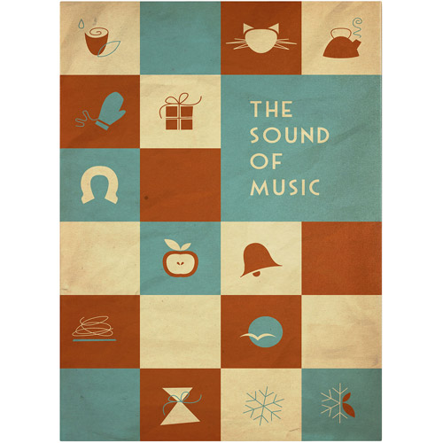 "Trademark Fine Art ""The Sound of Music"" Canvas Art by Megan Romo"