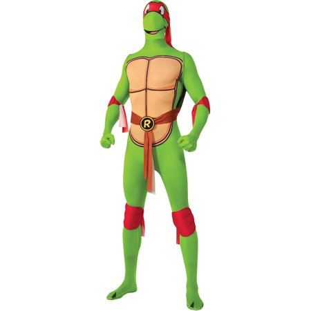 Mens Teenage Mutant Ninja Turtles Raphael 2nd Skin Full Body Jumpsuit - Ninja Turtle Mens Costume