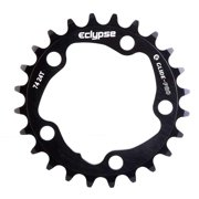 Eclypse, Glide-Pro, 24T, 8-10sp, BCD: 74mm, 5 Bolt Inner Chainring, Alloy, Black