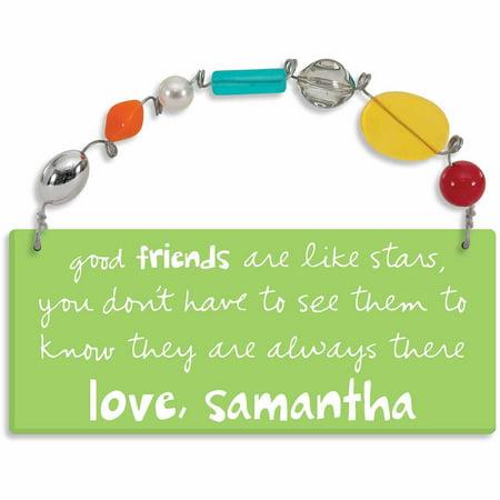 Personalized Sandra Magsamen Good Friends Are Like Stars Wall (Personalized Slate Wall Plaque)