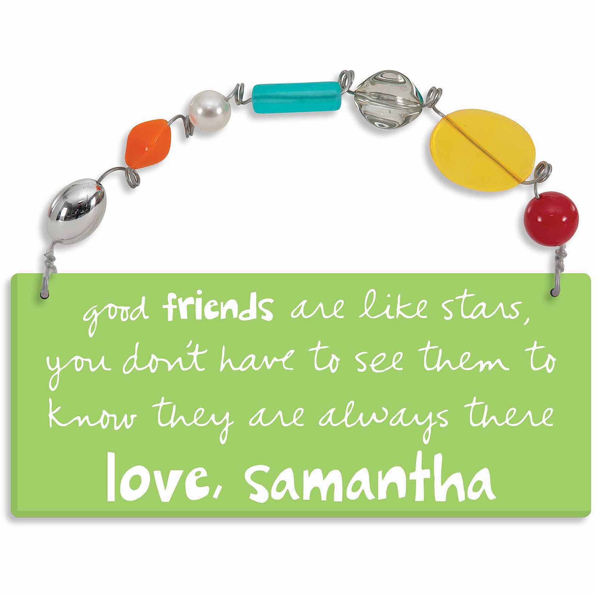 Personalized Sandra Magsamen Good Friends Are Like Stars Wall Plaque