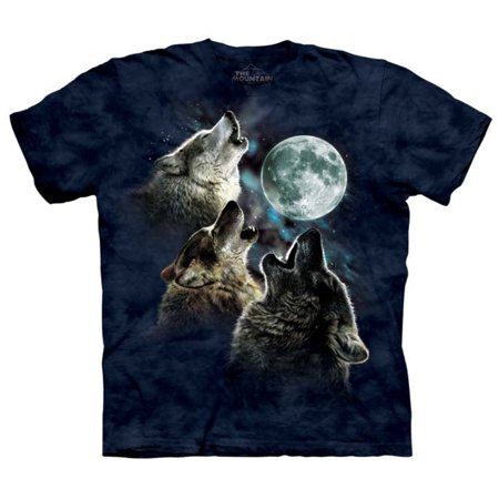 The Mountain Blue 100  Cotton Three Wolf Moon In Blue T Shirt