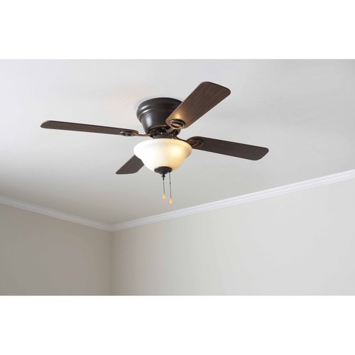 mainstays 42 quot ceiling fan with bowl light kit