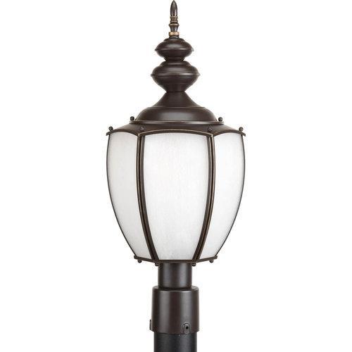 Progress Roman Coach - One Light Post Lantern, Antique Bronze Finish