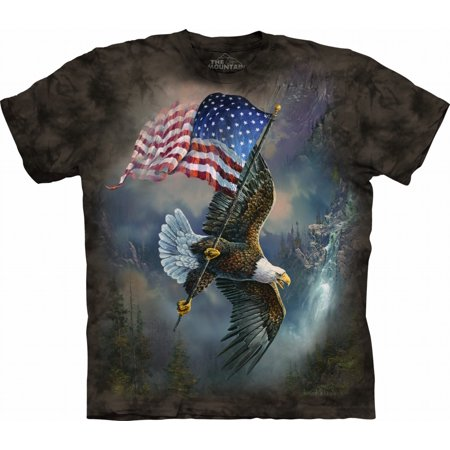 c12afe058 Tuff America - The Mountain Men's Women's Printed Eagles T-shirt Short  Sleeve Cotton 3D Graphic Casual Animal Tee Top - Walmart.com