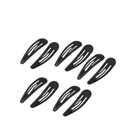 Unique Bargains 10 Pcs Women Hairstyle Black Metal Bow Prong Hair Clip Hairclip