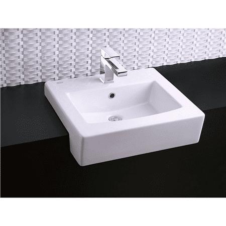 American Standard Drop In/Self Rimming Fireclay Bathroom Sink 0342.001.020 White