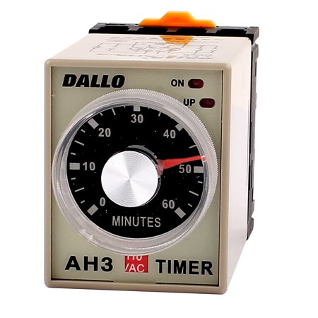 AC 110V DPDT 60M Rotary Knob 8P Terminals Delay Timer Time Relay w Socket - image 4 of 4