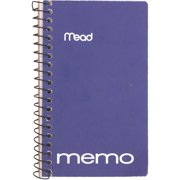 "Mead Wire Bound Memo Book Assorted 3"" x 5"" (45534)"