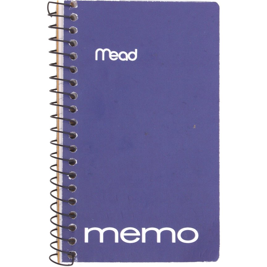 "Mead WireBound Memo Book Assorted 3"" x 5"" (45534)"