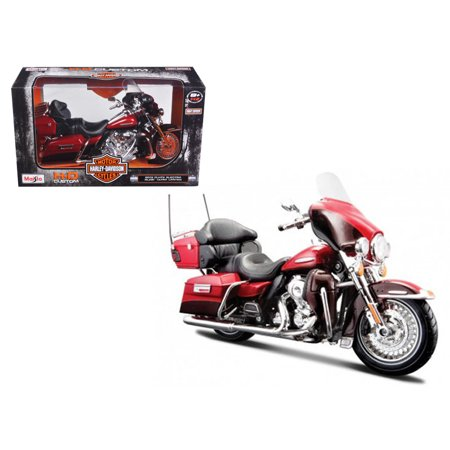 2013 Harley Davidson FLHTK Electra Glide Ultra Limited Red Bike Motorcycle Model 1/12 by Maisto
