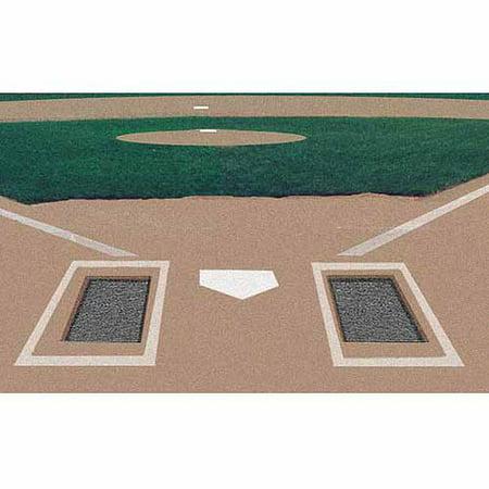 Markers Inc Rubber Batters Box Foundation, 2 (Baseball Field Marker)