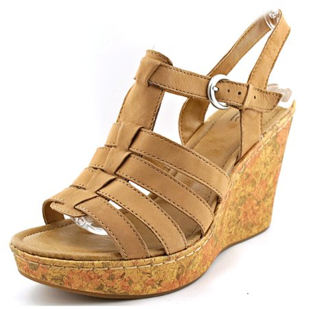 Leather Wedge Sandal B o Toe cDilani Open R4qAcjL35