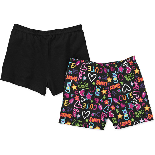 Garanimals Baby Girls' Print and Solid Short Set, 2-Pack