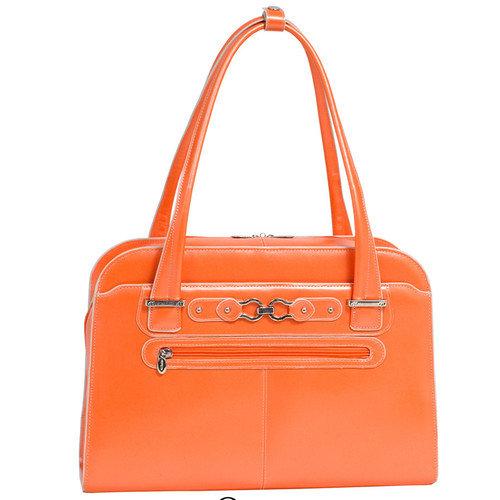 McKlein USA Oak Grove Leather Fly-Through Checkpoint-Friendly Ladies Briefcase