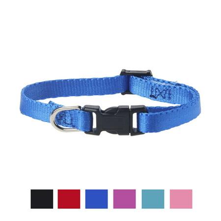 Vibrant Life Solid Nylon Dog Collar, Blue, X-Small Staywell Dog Collar