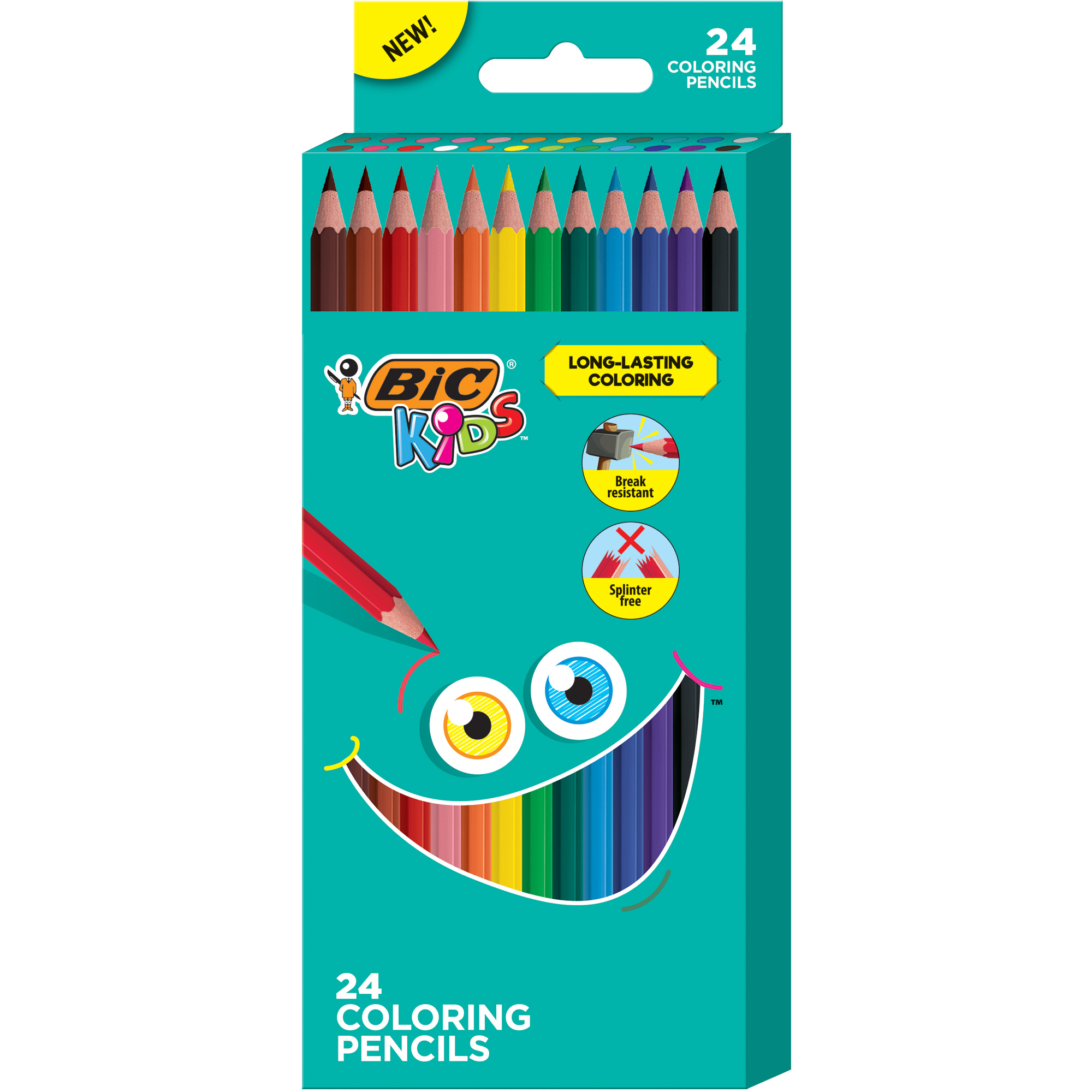 Assorted Colors 7 in School Smart Colored Pencil Pack of 24